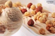 """Вышивка крестом.  Dalya.  Схемы вышивки  """"мороженое шарик орех орехи десерт сливки фундук """"."""